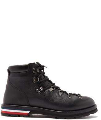 Moncler Peak Lace-up Leather Boots - Mens - Black
