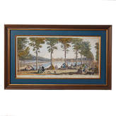 OKA The Court of Fontaines Framed Print