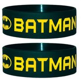 Batman Wristband Classic Text Symbol Logo Official Dc Comics New Silicone