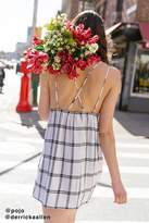 Urban Outfitters Breezy Plunging Linen Mini Dress