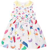 Simonetta White Sail Boat Print Dress