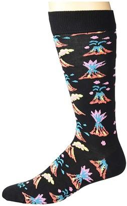 Happy Socks Volcano Sock (Black Combo) Men's Crew Cut Socks Shoes