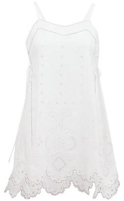 Vita Kin - Charlotte Broderie-anglaise Linen Top - White