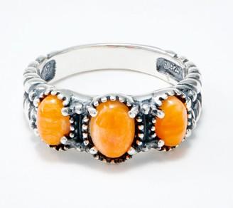 American West Sterling Silver Three Gemstone Friendship Ring