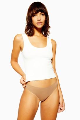 Topshop Womens No Vpl Thong - Dark Nude