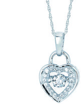 Brilliance in Motion 1/4 CT TW Diamond 14K Gold Heart Necklace by Boston Bay Diamonds