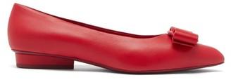 Salvatore Ferragamo Viva Leather Point-toe Flats - Red