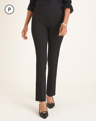 So Slimming Petite Juliet Pinstriped Straight-Leg Pants