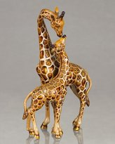 Jay Strongwater Mother & Baby Giraffe Figure