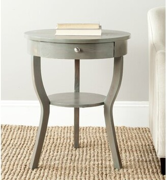 August Grove Joanna 3 Legs End Table with Storage Color: French Grey