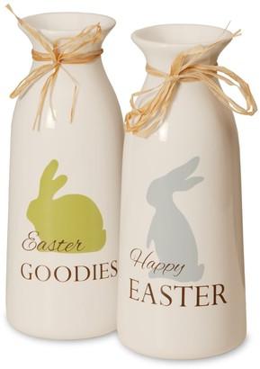 National Tree Company Easter Milk Bottle Table Decor 2-piece Set
