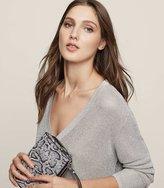 Reiss Bless - Metallic Jumper in Grey, Womens