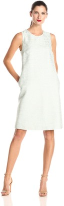 Helene Berman Women's Metallic Tweed Shift Dress