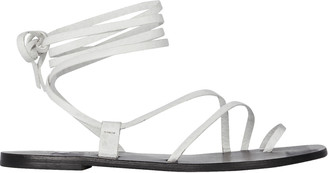 A.EMERY Beau Ankle Tie Leather Sandals