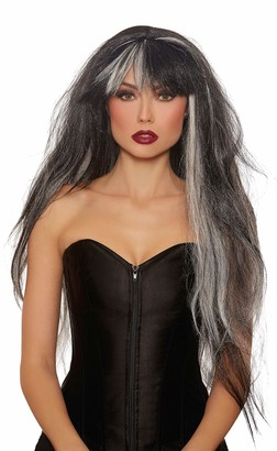 Dreamgirl Women's Extra-Long Haunted Black/White Mix Wig One Size