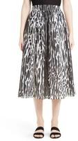 St. John Women's Leopard Print Midi Skirt