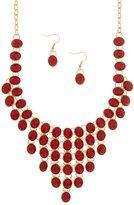 Karmas Canvas Stardust Cascading Faceted Jewel Statement Necklace Set