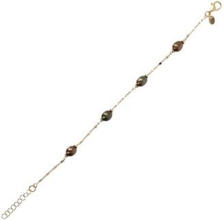 Honora Cultured Oval Pearl Bracelet, Sterling