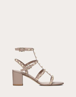 Valentino Rockstud Caged Sandal 60mm Women Poudre Calfskin 39.5