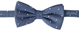 John Lewis Chambray Spotted Bow Tie, Blue