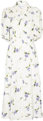 Les Rêveries Floral-Print Shirt Dress