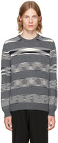 Missoni Grey Striped Crewneck Sweater