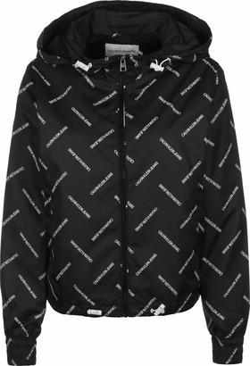 Calvin Klein Jeans Women's Diagonal Logo Windbreaker Jacket