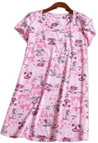 Amoy-Baby Women's Cotton Blend Floral Nightgown Casual Nights XTSY108-M