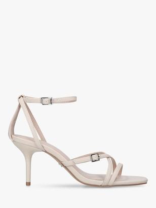 Kurt Geiger Gossip Stiletto Heel Strappy Sandals, Natural