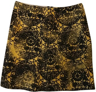 Prada Yellow Wool Skirt for Women