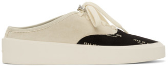 Fear Of God Black and Off-White 101 Print Backless Sneakers