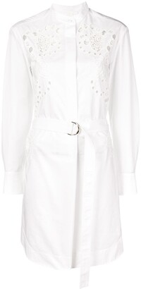 Chloé Belted Shirt Dress