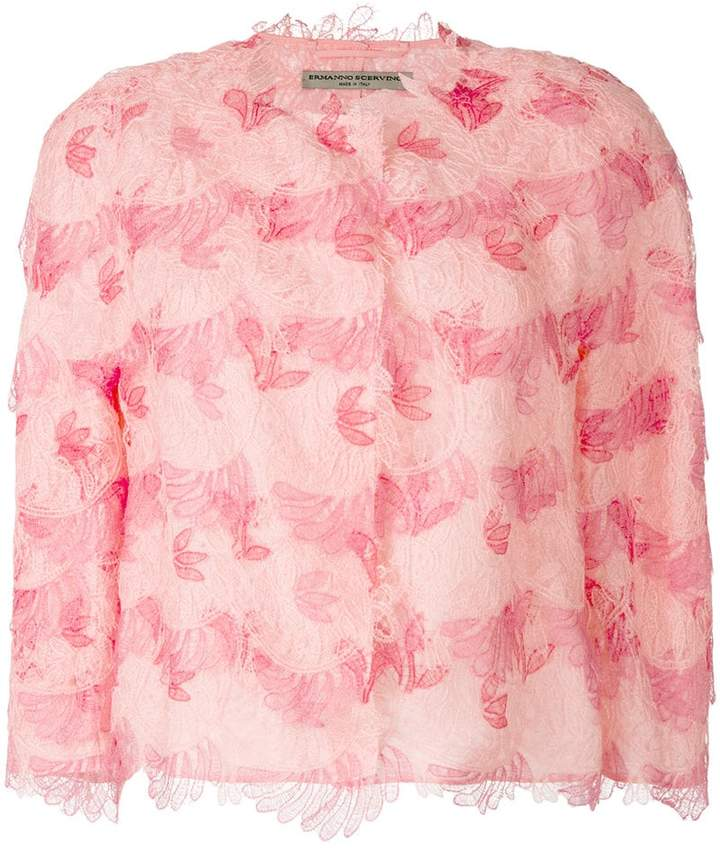 Ermanno Scervino lace layered blouse