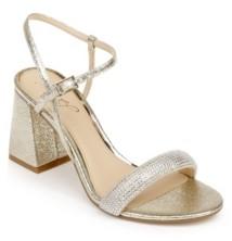 Badgley Mischka Women's Earlene Block Heel Evening Sandal Women's Shoes