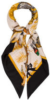 Hermes Tendresse Féline Cashmere Silk Shawl