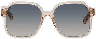 Chloé Pink Acetate Square Sunglasses