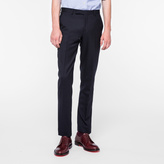 Paul Smith Men's Classic-Fit Black Wool And Mohair-Blend Travel Suit Trousers