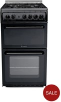 Hotpoint HAGL51K 50cm Twin Cavity Gas Cooker With FSD - Black