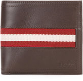 Bally Tye stripe panel wallet - men - Cotton/Calf Leather - One Size