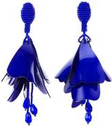 Oscar de la Renta Blue Violet Large Impatiens Drop Earrings