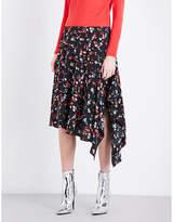 Mo&Co. Floral-print silk skirt