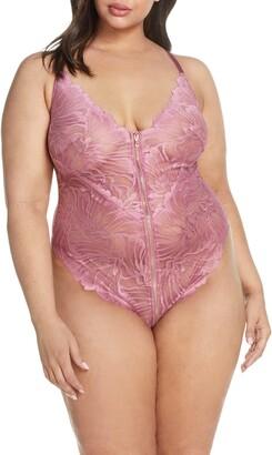 Oh La La Cheri Evette Front Zip Lace Teddy