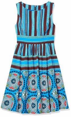 Plenty by Tracy Reese Women's Soweto Placement Print Frock Dress