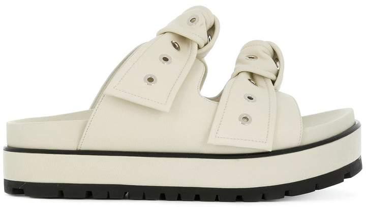 Alexander McQueen eyelet bow sandals