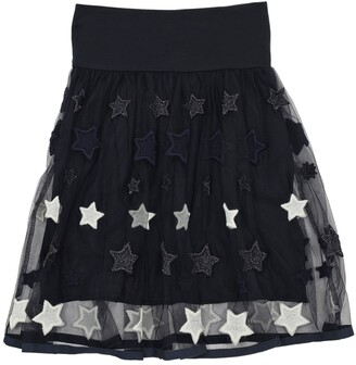 MonnaLisa EMBROIDERED STARS TULLE MIDI SKIRT