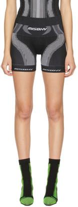 Misbhv Black and White Active Sport Shorts
