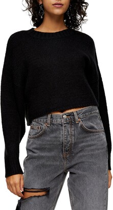 Topshop Brushed Crop Sweater