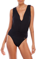 Vince Camuto Plunging V-Neck One-Piece Swimsuit