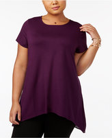 Alfani Plus Size Knit-Front Tunic, Created for Macy's