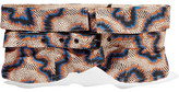 Isabel Marant Leni Printed Cotton And Linen-blend Waist Belt - Beige
